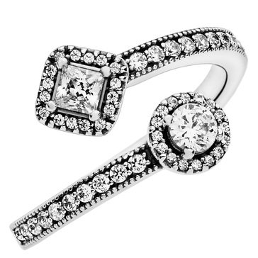 Pandora Abstract Elegance CZ Ring, Size 7.5