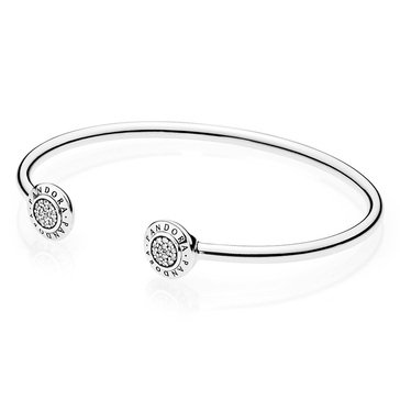 Pandora Signature CZ Bangle,  17.5Cm/6.7In