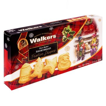 Walkers Festive Shapes Shortbread 12.3oz