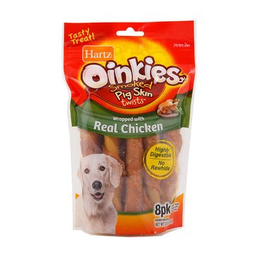 Hartz Oinkies Chicken Wrap 8-Pack Chews for Dogs
