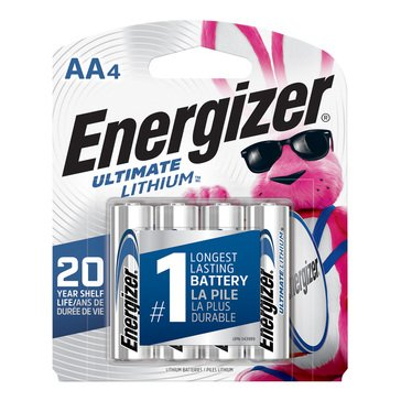 Energizer Ultimate Lithium AA Battery- 4 Pack