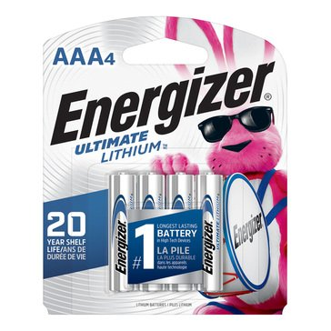 Energizer Ultimate Lithium AAA Battery- 4 Pack
