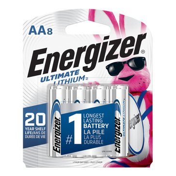 Energizer Ultimate Lithium AA Battery-8 Pack