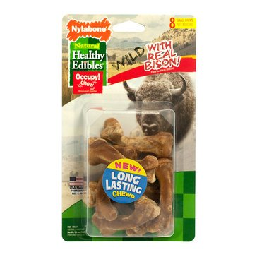 Nylabone Healthy Edibles Wild Bison Chew For Dogs 8 Pack