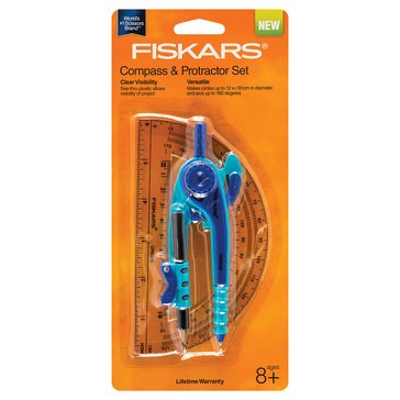 Fiskars Compass Protractor 2-Piece Set
