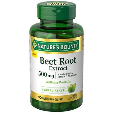 Nature's Bounty Beet Root Extract 500 MG 90ct