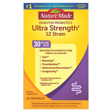 Nature Made Ultra Strength Probiotic Capsules 25ct