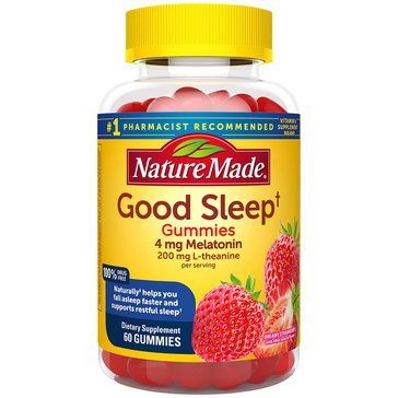 Nature Made Good Sleep 4 MG + L-Theanine Gummies 60ct