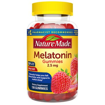 Nature Made Melatonin 2.5 MG Gummies 130ct