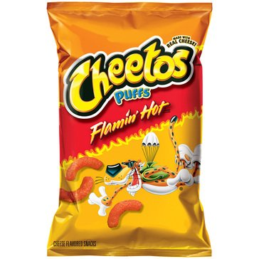 Cheetos Puffs Crunchy Flamin Hot 8.5oz