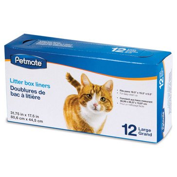 Petmate Cat Litter Pan 12-Count Large Liners