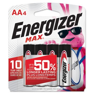 Energizer MAX Alkaline AA Battery-4 Pack