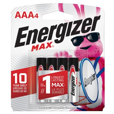 Energizer MAX AAA Battery-4 Pack