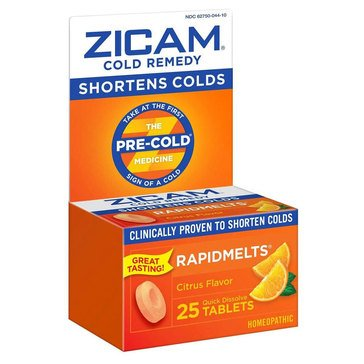 Zicam Cold Remedy Rapidmelts Citrus Tablets 25ct