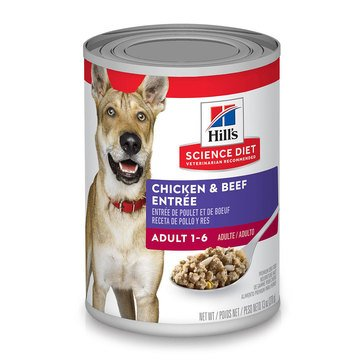 Hill's Science Diet Canine Adult 13 oz. Chicken & Beef Entree Wet Dog Food