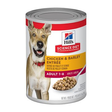 Hill's Science Diet Canine Adult 13 oz. Chicken & Barley Wet Dog Food