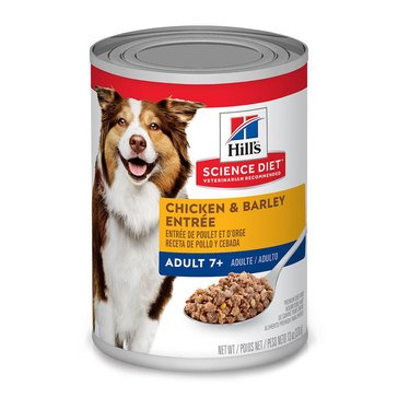 Hill's Science Diet Canine Adult 7+ Chicken & Barley Wet Dog Food