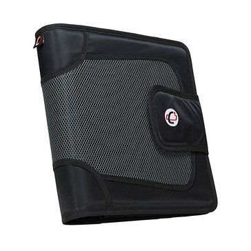 Case It 3 Ring Strap Closure Binder With File