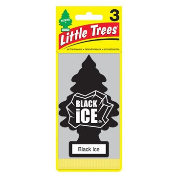 Little Trees Black Ice 3-Pack Air Freshener