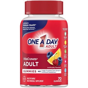 One A Day Vitacraves Adult Gummies 70ct