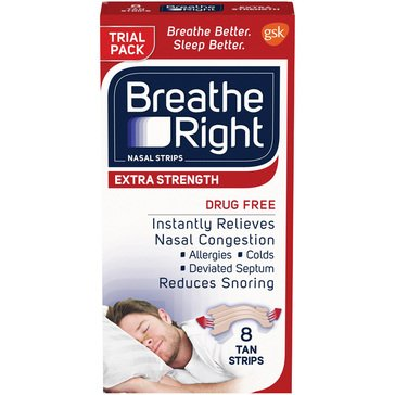 Breathe Right Nasal Strips  8ct Strips