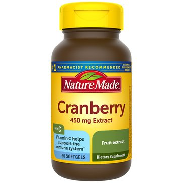 Nature Made Cranberry + Vitamin C Softgels 60ct