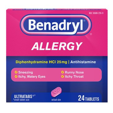 Benadryl Allergy Ultra Tablets 25mg 24ct