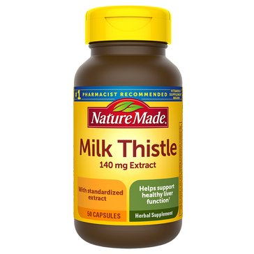 Nature Made Milk Thistle Standardized Extract 140 mg Extract 50ct