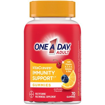 One A Day Vitacraces Immunity Support Gummies 70ct