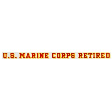Mitchell Proffitt USMC Retired Strip Decal