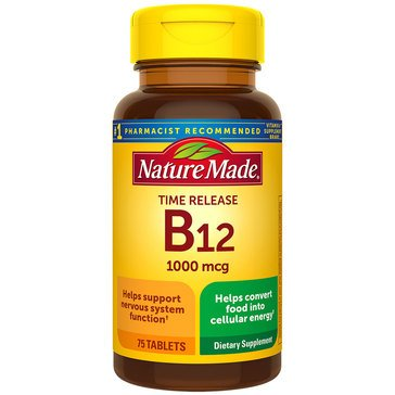 Nature Made Vitamin B-12 Timed Release 1000 MCG 75ct