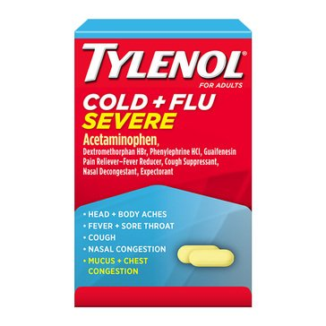 Tylenol Cold & Flu Severe 325mg Adult Box 24 Caplets