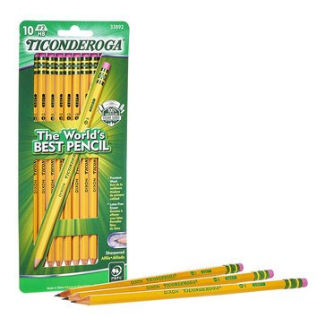 Dixon Ticonderoga 10-Count Number 2 Sharpened Lead Pencils