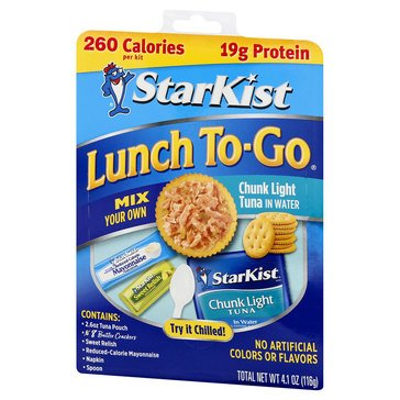 Starkist Lunch-To-Go Chunk Lite Lunch Kit 4oz