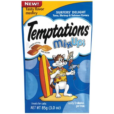 Whiskas Temptations Surfers Delight Mix-Ups 3 oz. Cat Treats