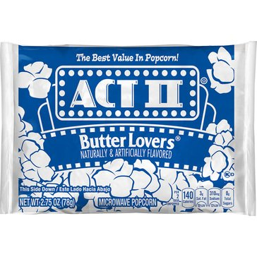 Act II Butter Lover Popcorn 2.75oz