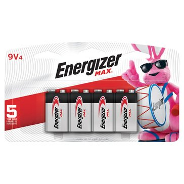 Energizer Max 9V Battery- 4 Pack