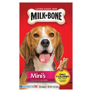 MilkBone Minis Biscuits 15 oz. Dog Treats