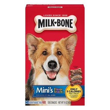 MilkBone Minis Flavor Snacks 15 oz. Dog Treats