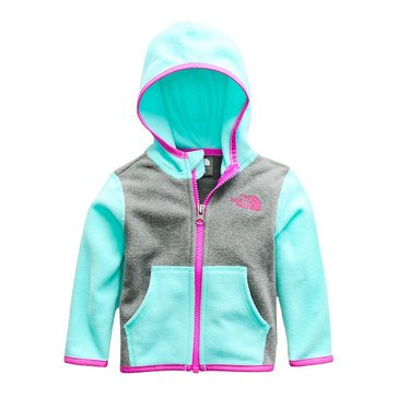 The North Face Baby Girls' Glacier Full Zip Hoodie, Blue