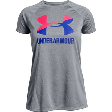 Under Armour Big Girls' Logo Solid Tee