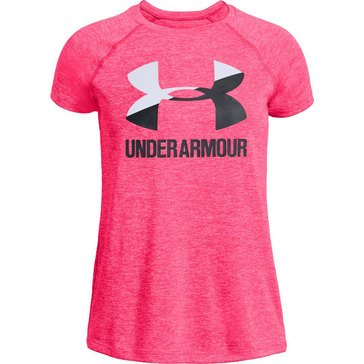 Under Armour Big Girls' Logo Novelty Tee