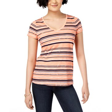 Maison Jules Women's Knit V-Neck Tee