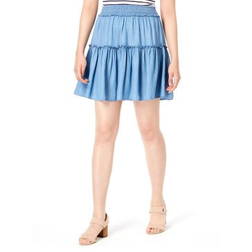 Maison Jules Women's Solid Tiered Short Skirt