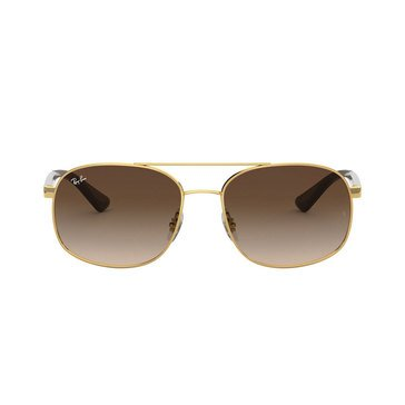 Ray-Ban Men's Square Gold Sunglasses 58mm