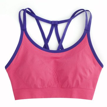 Jockey Women's Vortex Seamless Sports Bra With Contrast Multicolor Straps
