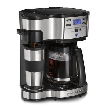 Hamilton Beach 12-Cup 2 Way Carafe & Single Serve Coffee Maker