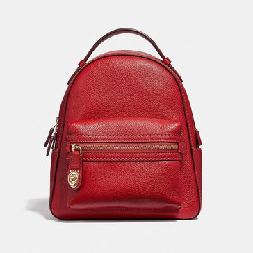 Coach Polished Pebble Campus Backpack 23