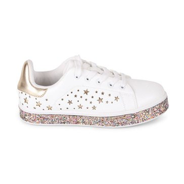 Wanted Galactic Perf Stars/White Sneaker