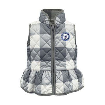 GARB Toddler Girl's USN Gingham Vest